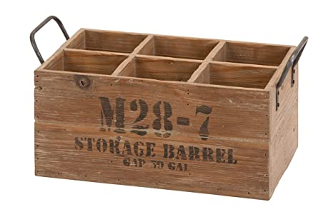 Deco 79 51662 Wine Crate Suitable For Your Home Bar One Size Natural Wood Brown