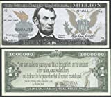 Abraham Lincoln Memorial Educational Million W Gettysburg Address Quote - Lot of 100 Bills