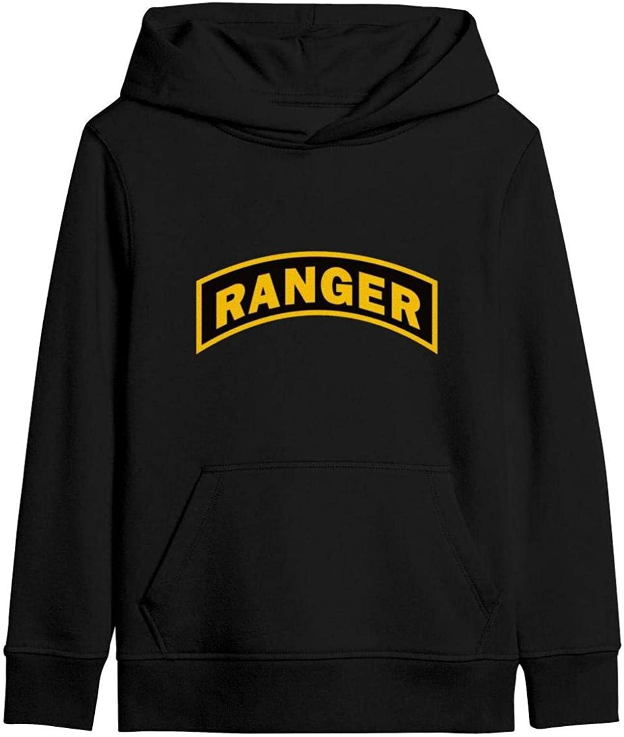 Kids United States Army Rangers Classic Pullover Hoodie Soft Hooded Sweatshirts Long Sleeve T-Shirt for Boys Girls