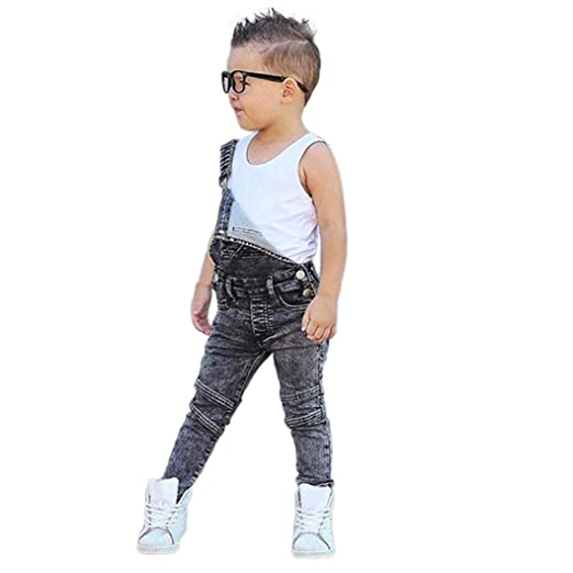 aa732a3aaab Amazon.com  Rucan Kids Jeans Jumpsuit