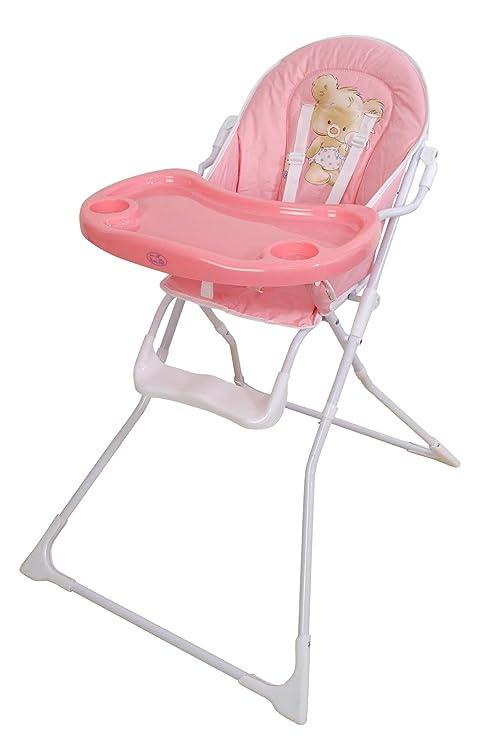 Trona para bebe plegable,modelo osito rosa, silla bebé.DE ...