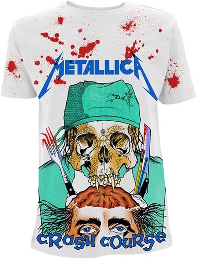 Metallica Crash Course In Brain Surgery All Over Print Men/'s White T-shirt