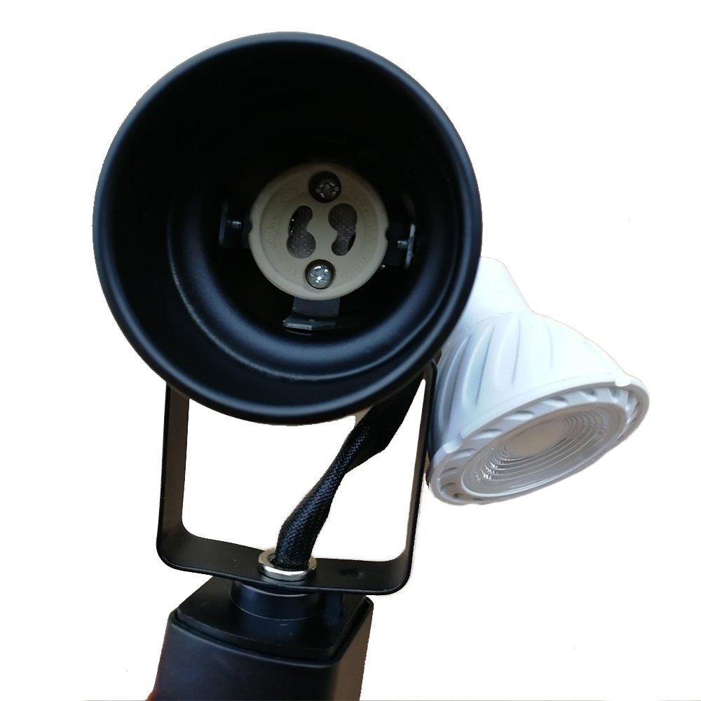 King SHA Universal LED Track Lighting Heads with MR16 GU10 led Spotlight Bulb 50W Halogen Equivalent 3000k Black by KING SHA (Image #3)