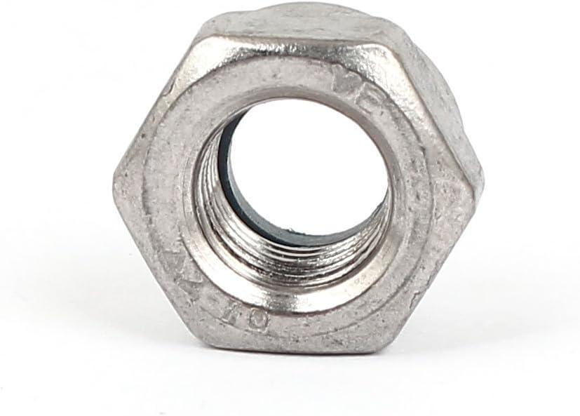 Uxcell a16033100ux0275 M10x1mm Nylock Self Nylon Insert Hex Lock Nuts 4pcs