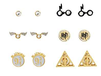Amazon Com Harry Potter Symbols Stud Earrings Set Of 6 Pairs Jewelry