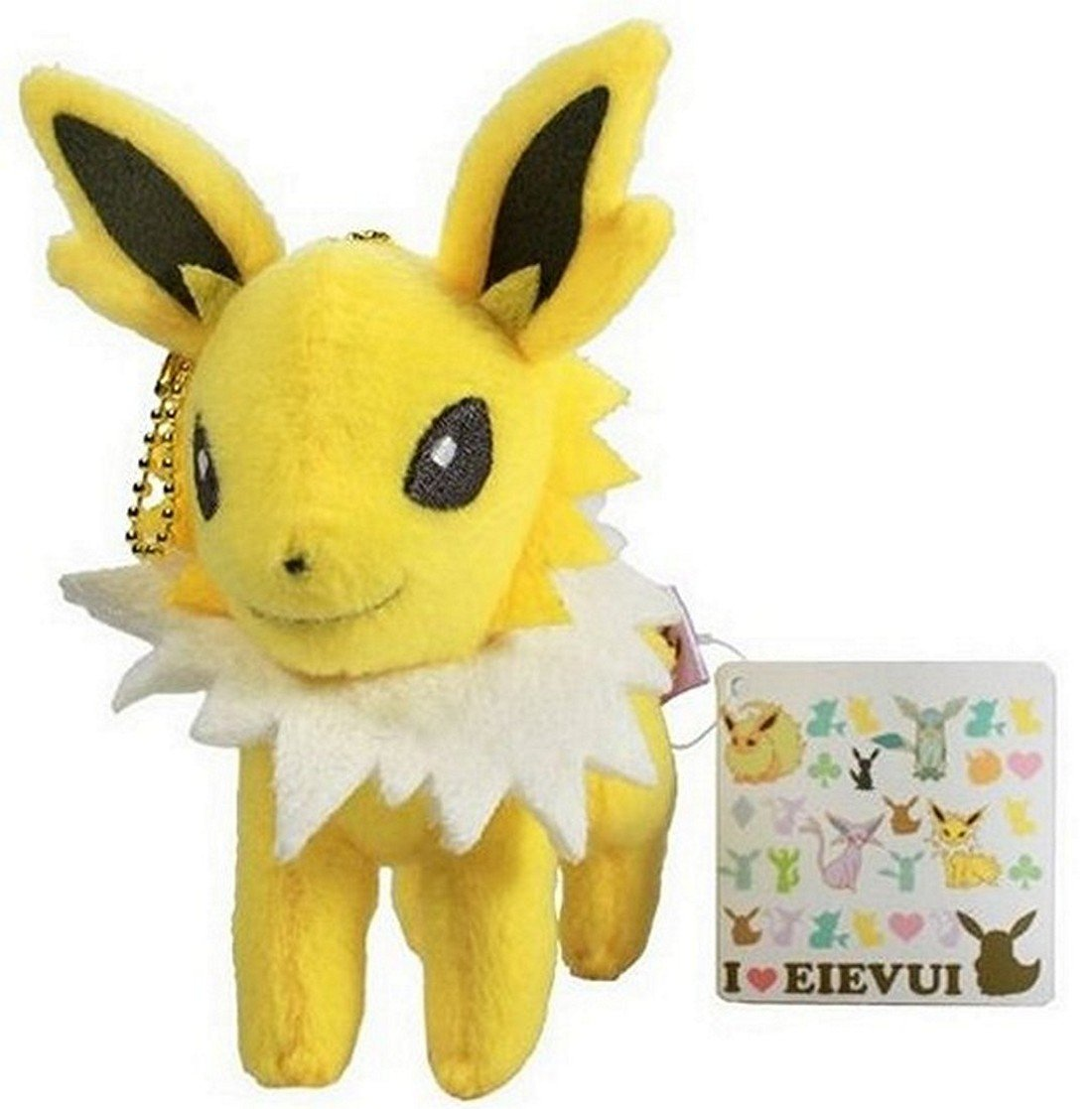 Pokemon I Love EEVEE Plush Keychain-aprox 5' Jolteon Banpresto Japan