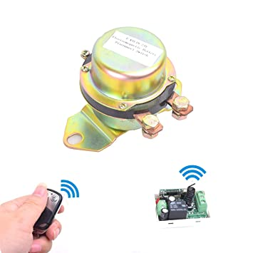 Car Wireless Remote Control Battery Switch Disconnect Latching Relay  Anti-theft, E-KYLIN DC 12V Electromagnetic Solenoid Valve Terminal Master  Kill