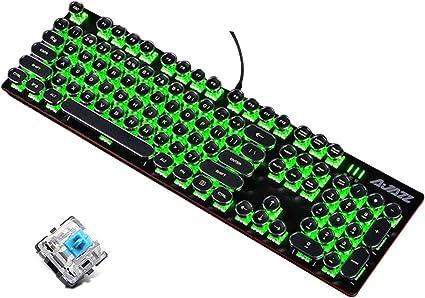 Guanwen Teclado mecánico para Juegos, Interruptor Azul ...