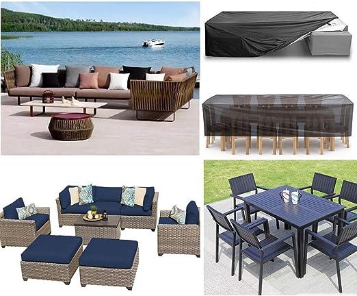E.enjoy Funda Protectora Muebles Jardín Cubierta Patio de la cubierta, al aire libre por sección