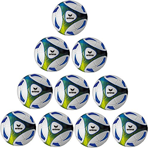 10x Erima Hybrid Trainingsball Größe: 5 inkl. Ballnetz