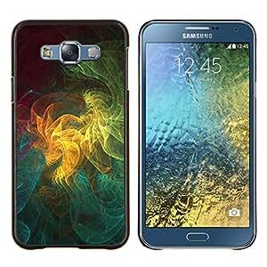 YiPhone /// Prima de resorte delgada de la cubierta del caso de Shell Armor - Patrón de arte geométrico Universo colorido - Samsung Galaxy E7 E700