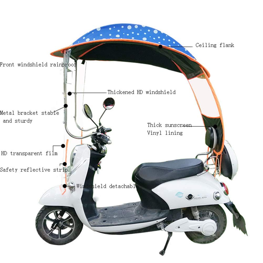 tettuccio per Ombrello per Auto elettrica Impermeabile Universale ZXXxxZ Parapioggia per ombrellone per ombrellone per Moto