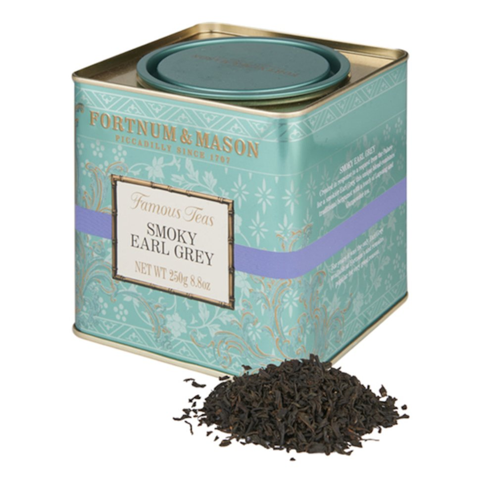 Fortnum & Mason British Tea, Smoky Earl Grey, 250g Loose English Tea in a Gift Tin Caddy (1 Pack) - Seller Model Id Lsesfl098b - USA Stock