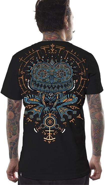 Camiseta psicodélica Estampada Psycho Toad con Sapo hipnótico en Trance - Ropa Urbana para Hombre