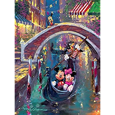 Puzzle Ceaco Disney Fine Art Mickey Minnie Moonlight In Venice 1000pc 3377 4
