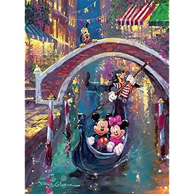 Puzzle Ceaco Disney Fine Art Mickey Minnie Moonlight In Venice 1000pc 3377 4