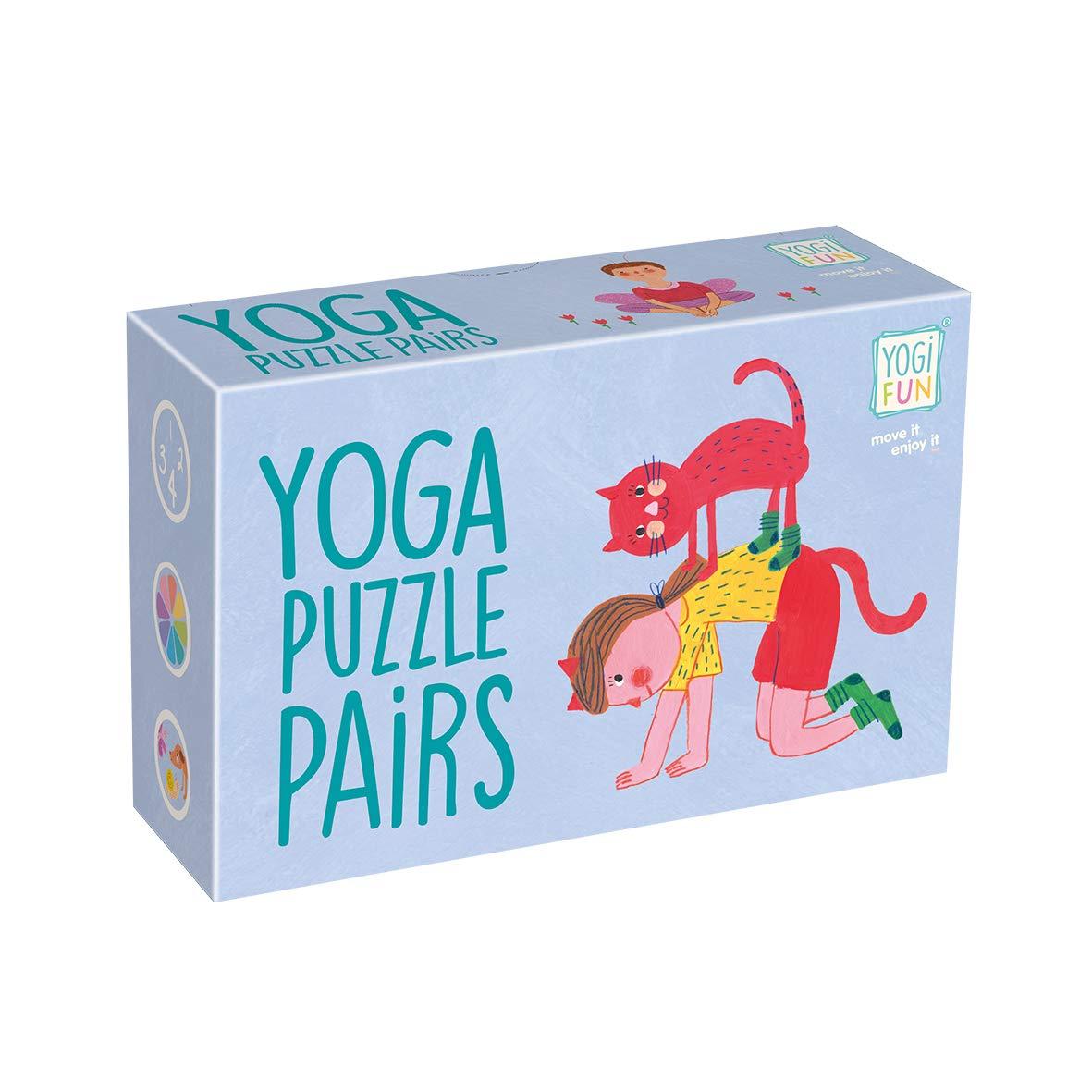 Juego Yoga para ni/ños LUDILO Puzzle ninos Cartas YF-006 juguemos a Hacer Familia Color Azul