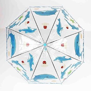 LZBDKM Paraguas Transparente para niños Niñas Niños Apollo ...