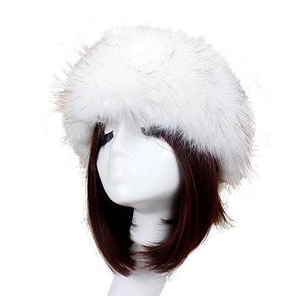 117c3a5945321 JIANGfu Russian Winter Hats for Women,Fur Beanies Headgear Headdress Snow  Hat (White, A): Amazon.co.uk: Kitchen & Home