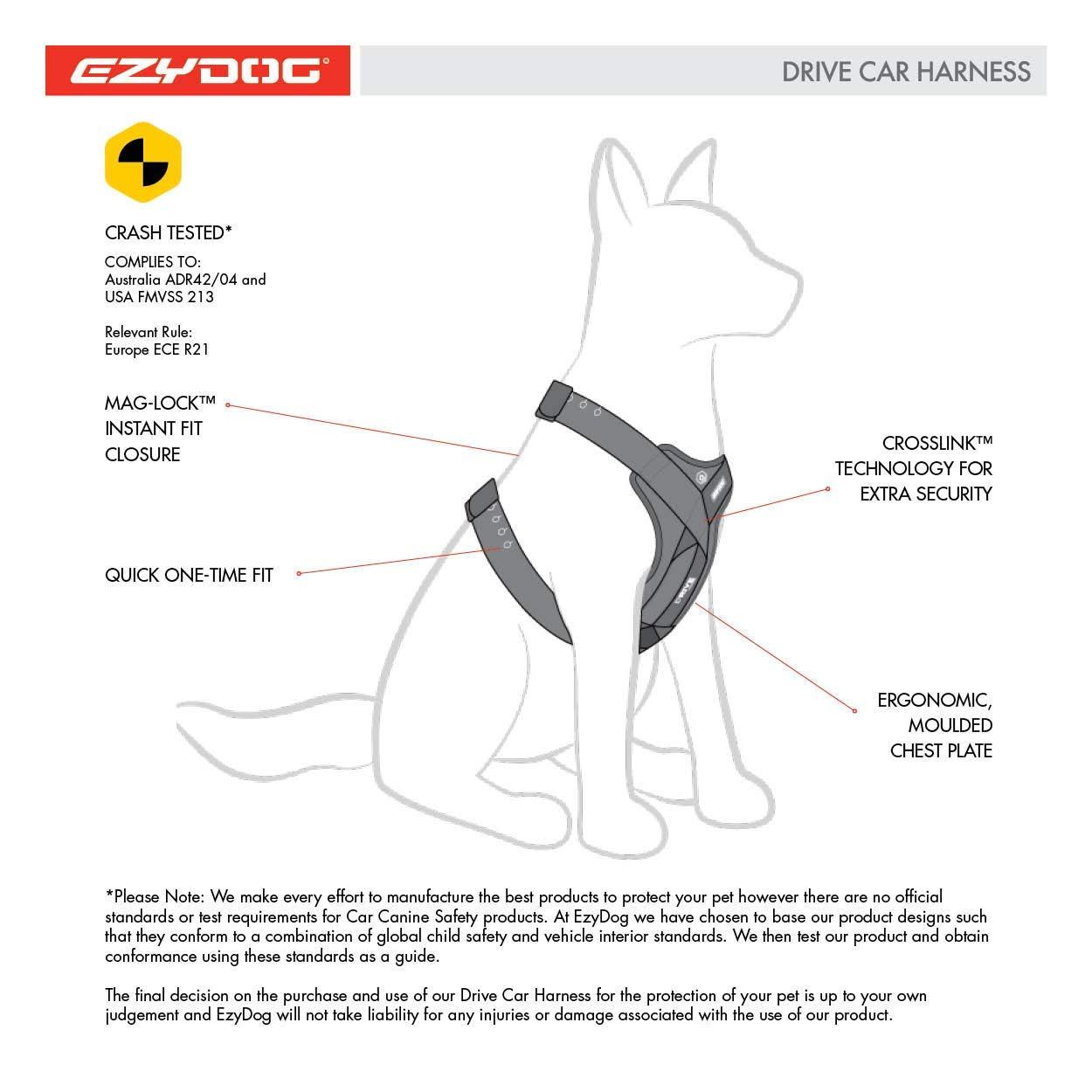 Small EzyDog Drive Harness