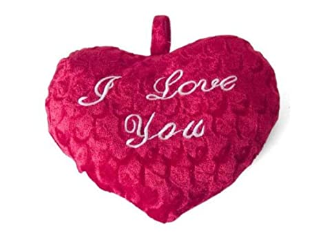 Gerimport Cojin Corazon I Love You 25x20cm: Amazon.es: Hogar