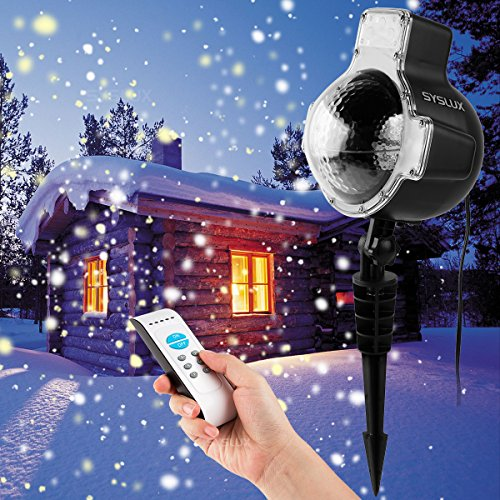 Syslux LED Snowfall Projector Lights, IP65 Waterproof