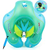 Baby Swimming Float with Seat, Newborn Swimming Pool Toys, Adjustable Baby Float, Swimming Water Float Swimming Ring With Safety Soft Chair include Manual Inflator (Style-1: 3-12 Months Children (S))