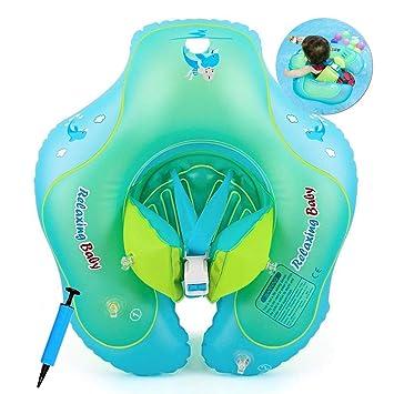 Cosoro Flotador de natación para bebé con Asiento yanillo de Seguridad, Juguetes para natación recién Nacidos,Flotador de Espera Ajustable para bebé(6-30 ...