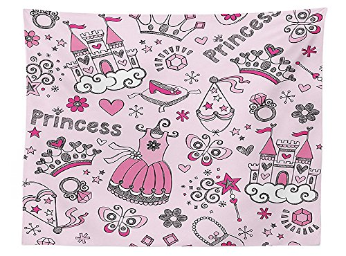 Mardi Gras Ball Wand (vipsung Girls Kids Room Decor Tablecloth Princess Pop Slipper Icons Fairy Castle Butterfly Heart Wand Diamond Tiara Art Decorations Dining Room Kitchen Rectangular Table Cover)