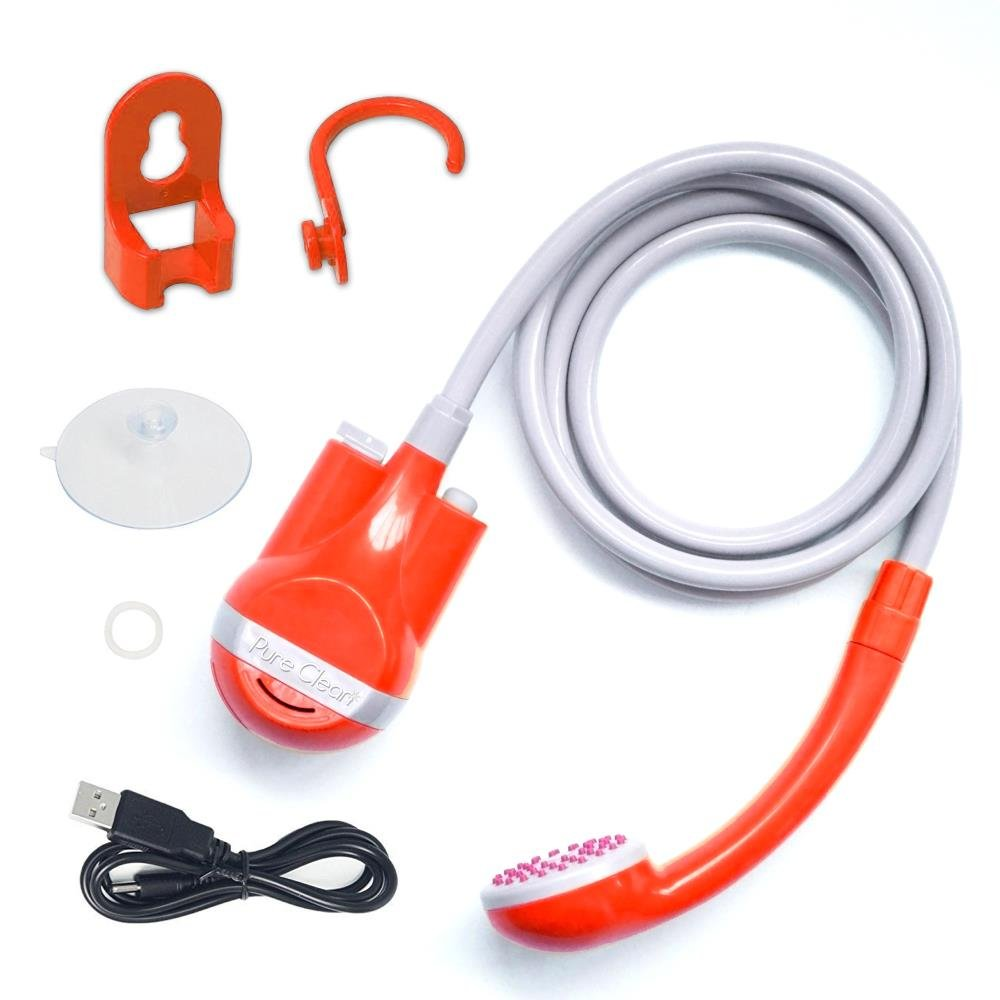 Hose Shower Water Pump USB Cable Outdoor Rechargeable 12V Battery-Powered
