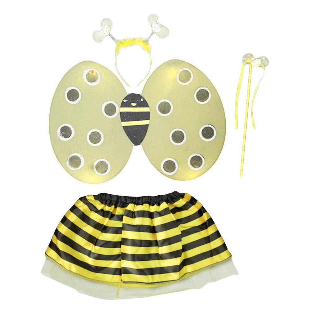 Wankd 2019 Disfraz de abeja roja para niña, cumpleaños, carnaval ...