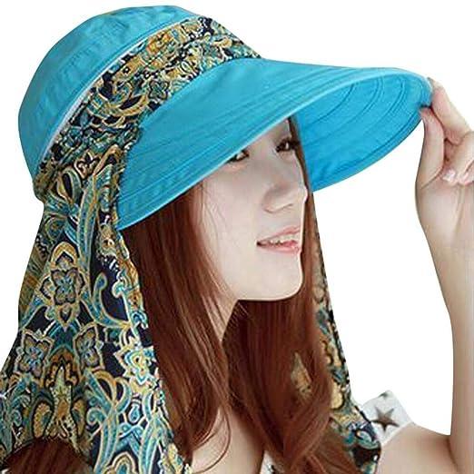 5a7e4b76e URIBAKE Women Ladies Holiday Visor Hat Summer Sun Beach Foldable ...