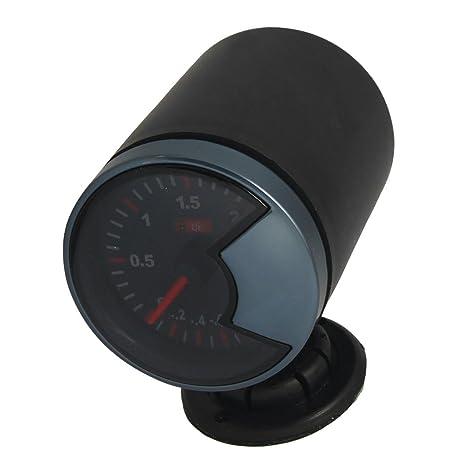 Sourcingmap Coche 6,1cm Diámetro Montaje Turbo Manómetro de Vacío -1 Bar A 2