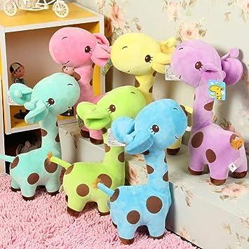 Baby Birthday Party Gift Plush Play Toy Kid Soft Giraffe Dear Animal Dolls 18CM