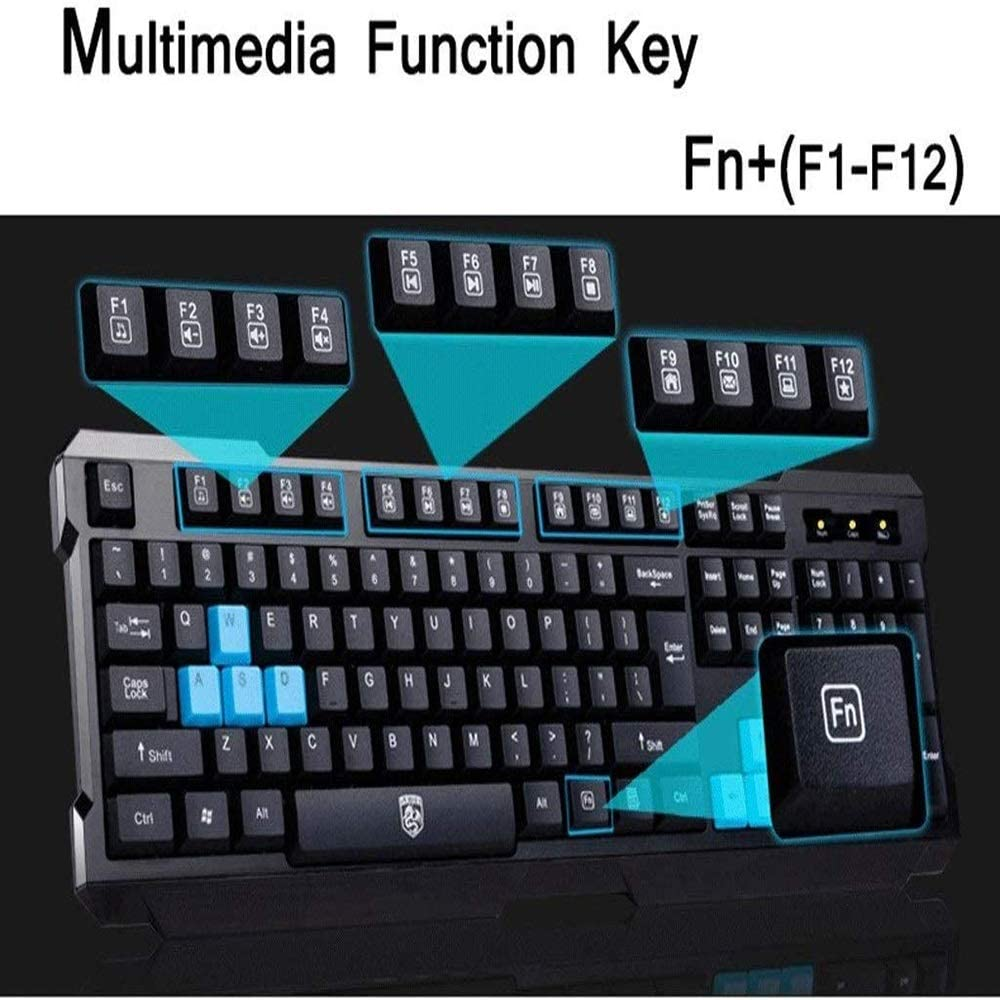Including Keyboard and Mouse Stylish Design Games//Office Jstyal968 Yalztc-zyq16 Wireless Keyboard and Mouse Combination
