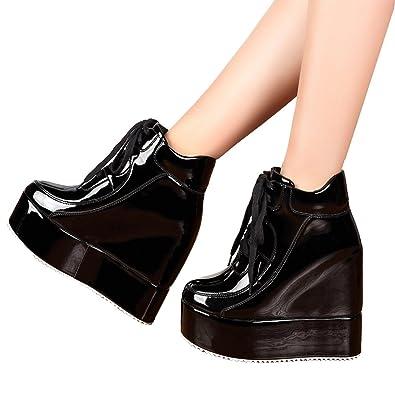 Amazon.com | Getmorebeauty Womens Hidden High Heel Platform ...