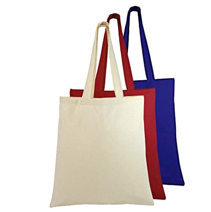6ddb95b8c Natural Cotton Canvas Tote Bags Bulk Plain Fabric for Crafts, DIY, Vinyl,  Decorate
