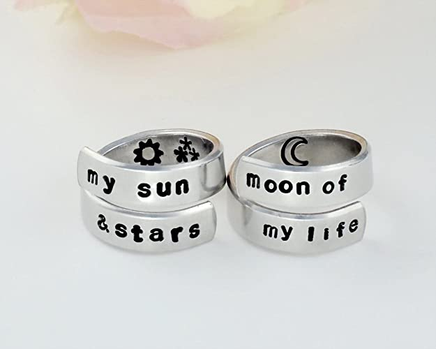 Amazoncom My Sun And Stars Moon Of My Life Hand Stamped