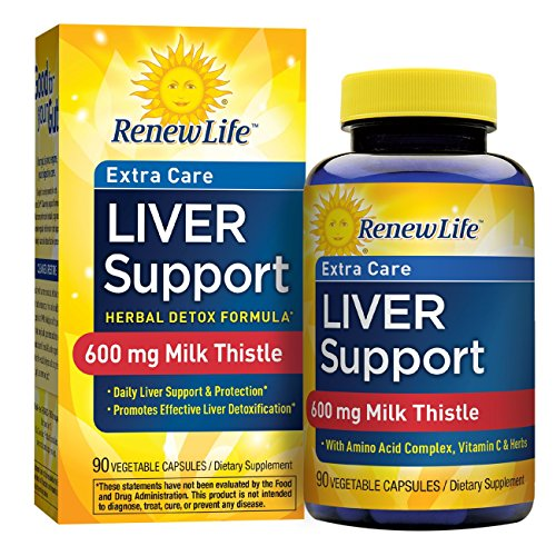 Renew Life - Liver Support Extra Care - Milk Thistle liver detox supplement - 90 vegetable capsules