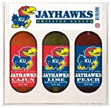 8 Pack KANSAS Jayhawks Grilling Gift Set 3-12 oz