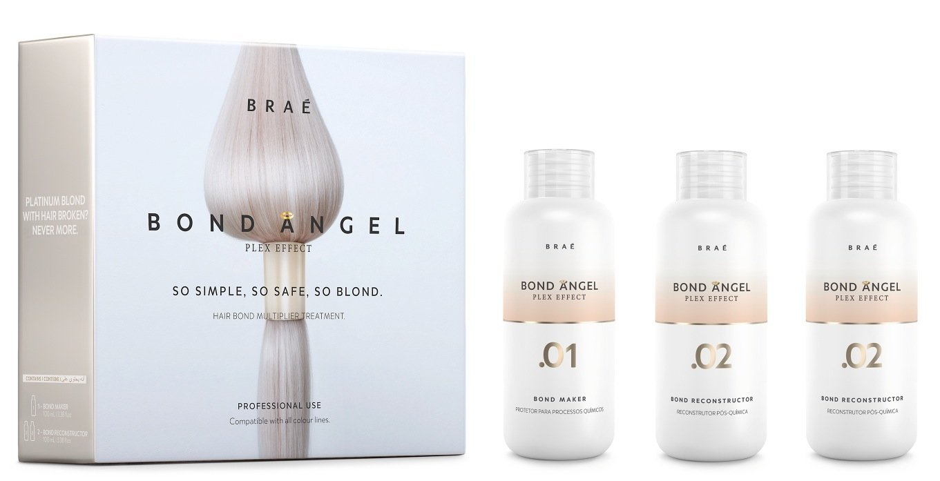 Bond Angel Plex Effect, Bond Multiplier Treatment Kit for Bleaching and Coloring protection for All Hair Types - 100ml Step1,2,2 … 2 … BRAE TravelingStylistKit
