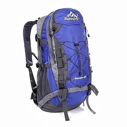 Mochilas deportivas ligeras y cómodas Mochila Montañismo Impermeable de Nylon de Alta Capacidad de Viaje Caminando