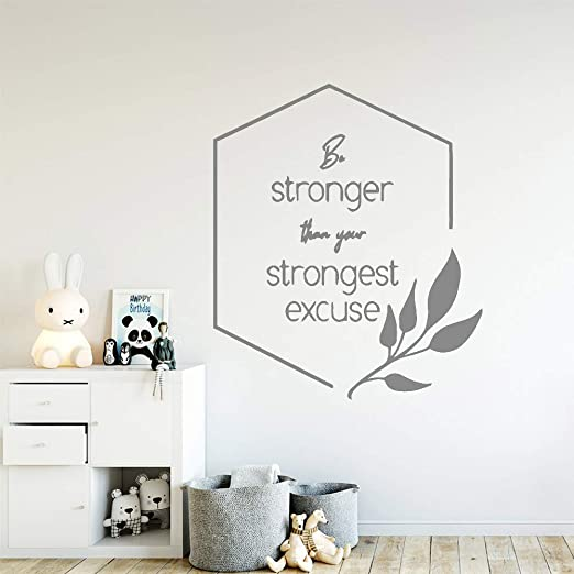 yiyiyaya Cute Be Strong Quotes Wall Art Decal Stickers de Pared ...