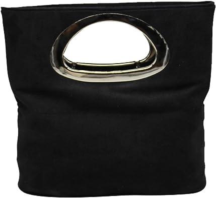 Multicolor Suede Leather Ladys Prom Clutch Purse Handbag Envelope Style Tote Bag
