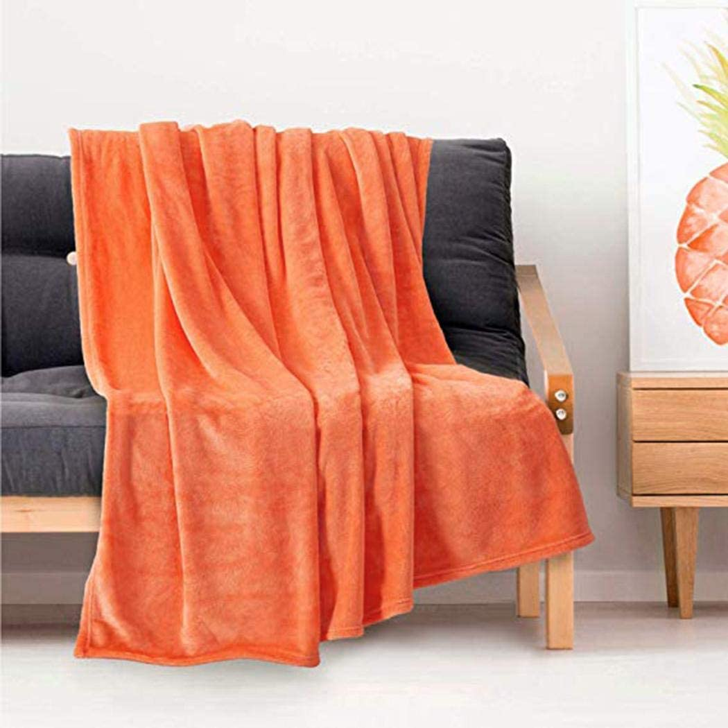 Chainscroll Solid Soft Sofa Bed Living Room Bedroom Multi-function Blanket Blankets