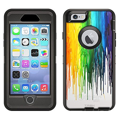Skin Decal for Otterbox Defender Apple iPhone 6 Plus Case - Melting Wax