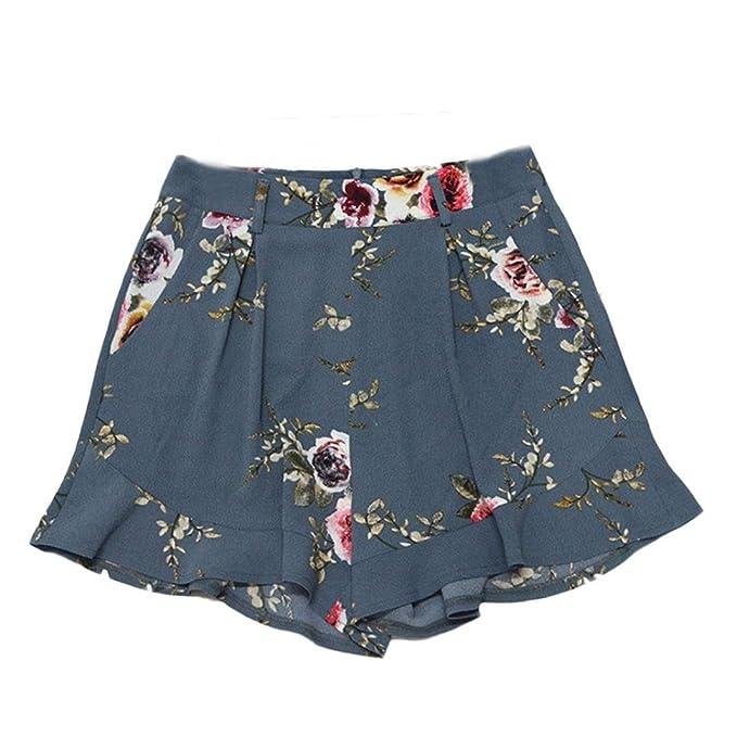 e335eb5c91f2 CLOOM Kurze Hosen Damen Sommer Shorts High Waist Leggings Sporthosen Kurze  Shorts Hot Pants Stretch Short