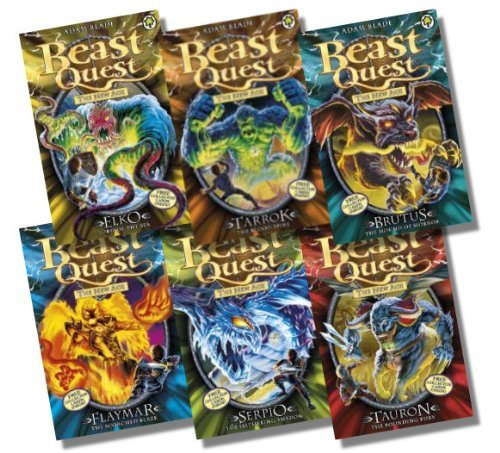 Beast Quest Series 11 Collection 6 Books Rrp 29 94 Elko Lord Of The Sea Tarrok The Blood Spike Brutus The Hound Of Horror Flaymar The Scorched Blaze Serpio The Slithering Shadow
