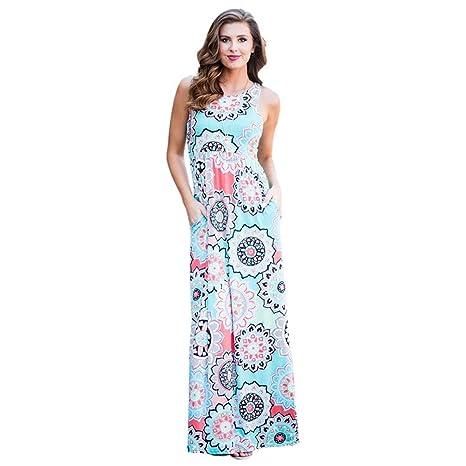 73dee34ed52e1 Amazon.com: New Style Robe Boho long dress New women beach summer ...