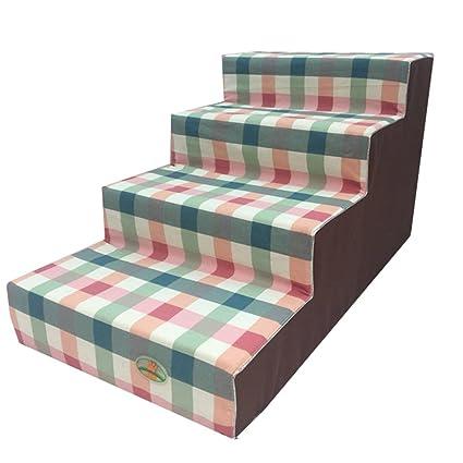 Escaleras del perro del paso 4 para los pequeños perros para las camas altas, taburete